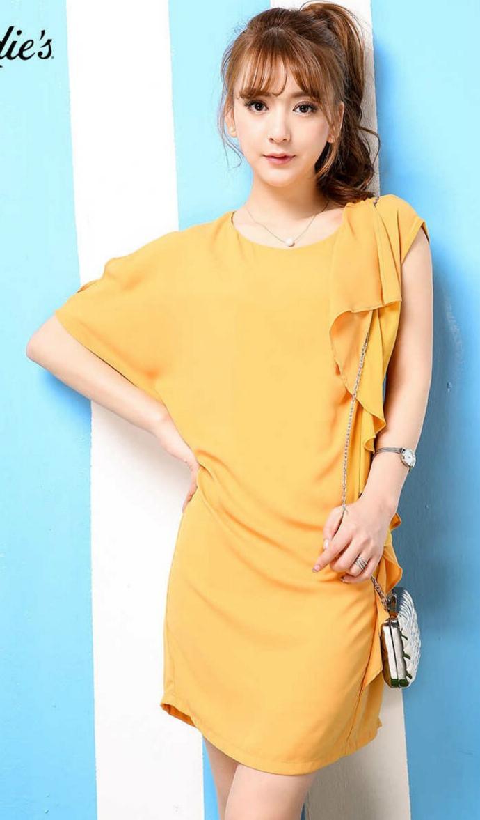 LA CHAPELLE Ladies Dress (DARK ORANGE) (LC) (S - M - L)