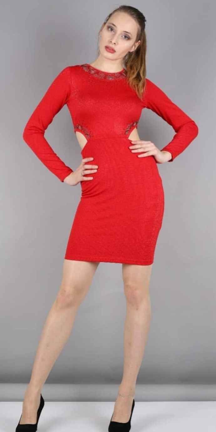 MIXVIRACE Ladies Turkey Dress (RED) (S - M - L - XL)