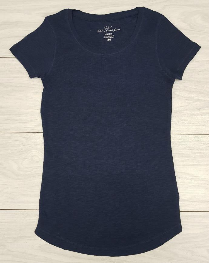 HM Ladies T-Shirt (NAVY) (XS - S - M - L - XL)