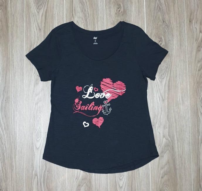 DIP Ladies T-Shirt (BLACK) (XS - S - M - L - XL - XXL - 3XL)