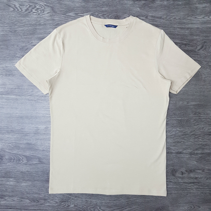 THE BASICS Mens T-Shirt (CREAM) (S - M - L - XL - XXL)