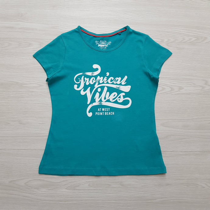 PEPPERTS Girls T-Shirt (BLUE - GREEN) (7 to 12 Years)
