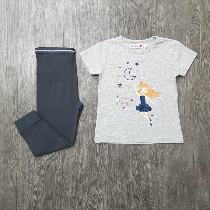 BOBOLI Girls 2 Pcs Pyjama Set (GRAY) (2 to 8 Years)