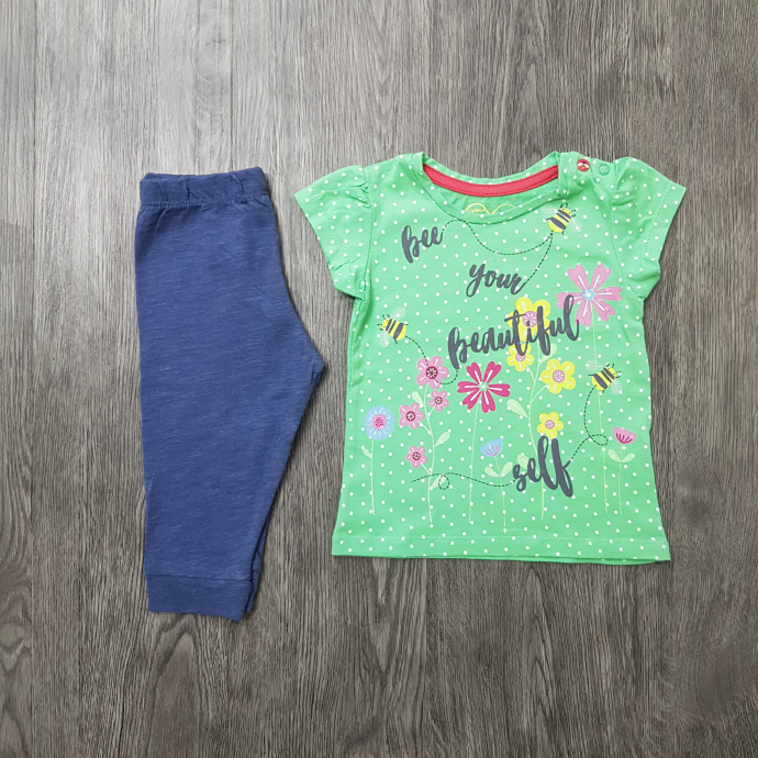 MOTHER CARE Girls 2 Pcs Pyjama Set (GREEN- BLUE) ( (6-9) to  (18-24) MONTH) - ( (2-3) to (4-5) YEARS) )