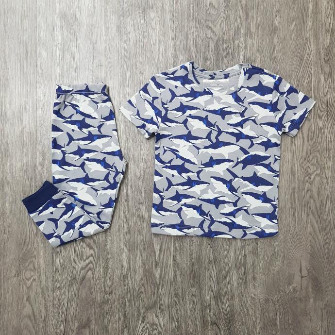 NEXT Boys 2 Pcs Pyjama Set (GRAY- BLUE) (2 to 8 Years)