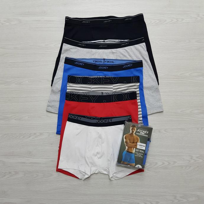 JOCKEYSPORT  3 Pac  Mens Boxer Shorts Pack (RANDOM COLOR) (S - M - L - XL - XXL)