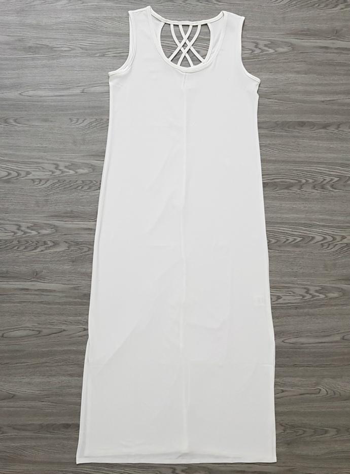 FRENCH TWIST Ladies Long Top (WHITE) (S - M - L - XL - XXL - 3XL)