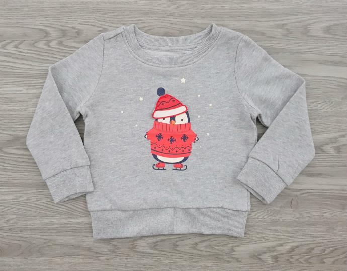 MERRY CHRISTMAS Boys Long Sleeved Shirt (GRAY) (92 to 140 CM)