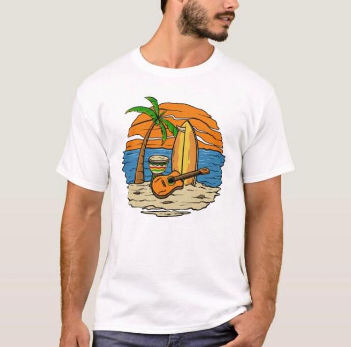 BASIC COLLECTION Mens T-Shirt (WHITE ) (S -M - L - XL )