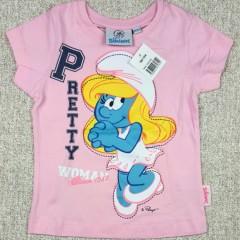 disney SCHLUMPFE Girls Tshirt (5 to 8 Years)