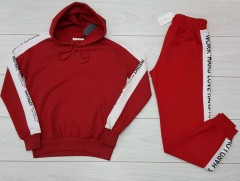 SNOW Ladies Sweatshirt And Pants (RED) (XS - S - M - L)
