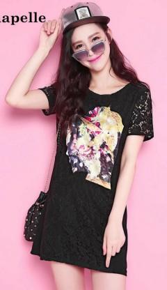 LA CHAPELLE  Ladies Dress (BLACK) (LC) (M)