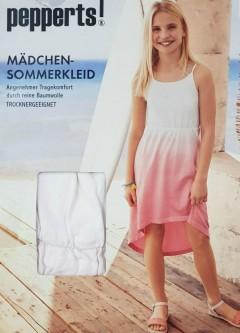 Girls Dress (PINK - WHITE) (6 to 14 Years)
