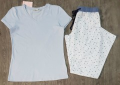 BLUE MOTION Ladies Pyjama Set (BLUE) (S - M - L)