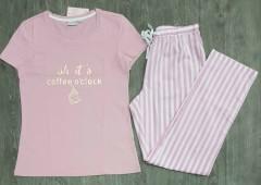 BLUE MOTION  Ladies Pyjama Set (PINK) (S - M - L)