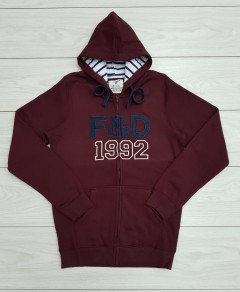 F&D Mens Hoodie (DARK RED) (XS - S - M - L - XL)