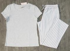BLUE MOTION Ladies Pyjama Set (GRAY) (S - M - L)