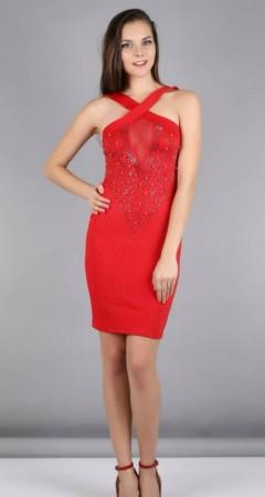 MICKEY MOUSE Ladies Turkey Dress (RED) (S - M - L - XL)