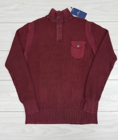 TOM TAILOR Mens Sweater (DARK RED) (XXS - XS - S - M - L - XL - XXL)