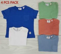 ZARA 4 Pcs Boys T-Shirt Pack (Random color) (3 Months to 4 Years)