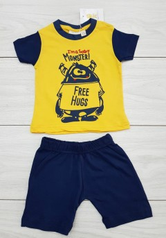 FAGOTTINO Boys T-Shirt And Shorts Set (YELLOW) (9 to 30 Months)