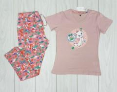 UNIT Ladies 2 Pcs Night Wear Pyjama Set (PINK) ( S - M - L - XL)