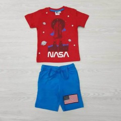 NASA Boys Shorty Pyjama Set (RED - BLUE) (2 to 8 Years)