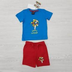 RUBIKS Boys Shorty Pyjama Set (BLUE - RED) (2 to 8 Years)