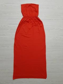 BASICS Ladies Long Dress (RED)