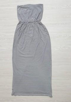BASICS Ladies Long Dress (GRAY) ( S - M - L - XL)