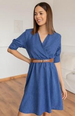 ROY FASJION Ladies Turkey Dress (BLUE) (S - M - L - XL)