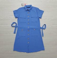 ROY FASHION Ladies Turkey Dress (BLUE) (S - M - L - XL)