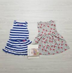 ALIVE Girls 2 Pcs Sleeveless Dress Pack (BLUE - GRAY) (2 to 10 Years)