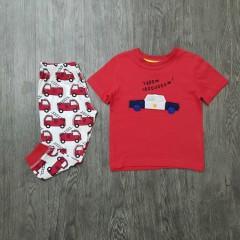 MOTHERLINE Boys 2 Pcs Pyjama Set (RED) (2 to 8 Years)