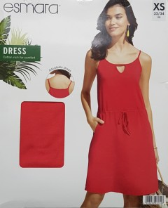 ESMARA Ladies Dress (RED) (XS - S - M - L)