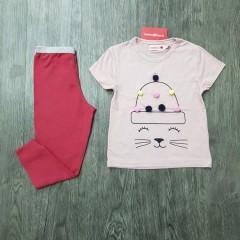 BOBOLI Girls 2 Pcs Pyjama Set (LIGHT PINK - DARK PINK) (2 to 8 Years)