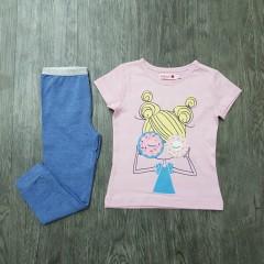 BOBOLI Girls 2 Pcs Pyjama Set (LIGHT PINK - BLUE) (2 to 8 Years)