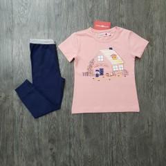 BOBOLI Girls 2 Pcs Pyjama Set (NAVY - PINK) (2 to 8 Years)