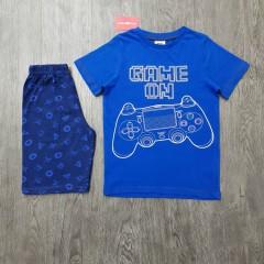 GEORGE Boys 2 Pcs T-Shirt & Shorty Set ( BLUE - NAVY) (5 to 14) Years)