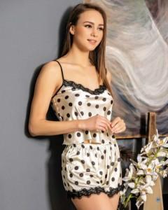 LORIVA Ladies Turkey 2 Pcs Top And Short (WHITE) (S - M - L - XL)