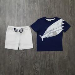 Boys 2 Pcs Pyjama Set (NAVY - WHITE) (2 to 8 Years)