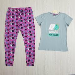 TALLY WEIJL Ladies 2 Pcs Pyjama Set (PURPLE - BLUE) (S - M - L - XL