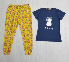 TALLY WEIJL Ladies 2 Pcs Pyjama Set (YELLOW - NAVY) (S - M - L - XL