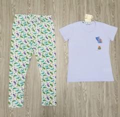 TALLY WEIJL Ladies 2 Pcs Pyjama Set (WHITE - LIGHT BLUE) (S - M - L - XL)