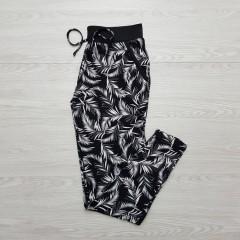 AVENUE Ladies Pyjama (BLACK-WHITE) (S - M - L - XL)