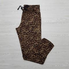 AVENUE Ladies Pyjama (BLACK-BROWN) (L - XL)