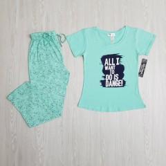 KATHY IRELAND Ladies 2 Pcs Pyjama Set ( LIGHT GREEN) ( S - M - L - XL -XXL )