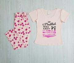 KATHY IRELAND Ladies 2 Pcs Pyjama Set ( LIGHT PINK) ( S - M - L - XL - XXL)