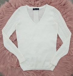 INSTINCT Ladies Sweater (WHITE) (XS -S - M - L - XL)