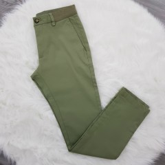 TAPERED FIT Mens Twill Pants (GREEN) (26 to 44 EUR)